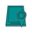 gps location pin with smartphone icon image vector image