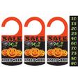 halloween sale 3 vector image vector image