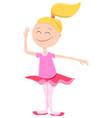 happy ballerina girl cartoon character vector image