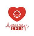 high blood pressure icon high blood pressure icon vector image