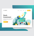 landing page template stock investment vector image vector image