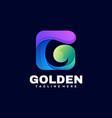 logo golden gradient colorful style vector image vector image
