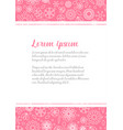 love letter template with floral background vector image