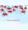 magnolia flowers spring beautiful card vector image vector image