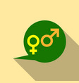 male and female symbols combination in thinking vector image vector image