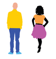 man and woman in colorful vector image