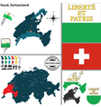 Map of Vaud vector image vector image