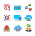 marketing and seo colored trendy icon pack 2 vector image vector image