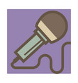 microphone isolated icon karaoke and music record vector image vector image