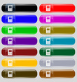 mobile phone icon sign Big set of 16 colorful vector image vector image