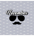 moustaches and sunglasses poster black vector image vector image