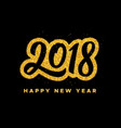 new year 2018 greeting card design vector image vector image