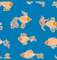 pattern of decorative fishes vector image