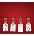 Reindeer with 2016 label vector image vector image