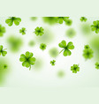 saint patricks day background design with green vector image vector image