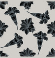seamless pattern with hand drawn stylized gentiana vector image