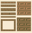 set collections of ethnic greece design vector image vector image