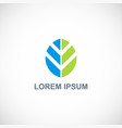 shape leaf organic logo vector image vector image