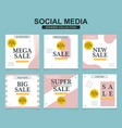 social media banners pack for website and mobile vector image vector image