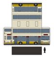 the simple paper model of a double decker vector image