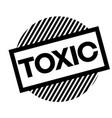 toxic black stamp vector image