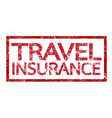 travel insurance word vector image