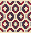 tribal southwestern native american navajo pattern vector image