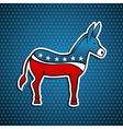 USA Democratic Party donkey vector image