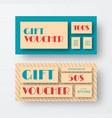 vintage gift voucher design vector image vector image
