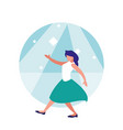 woman dancer of disco avatar character vector image