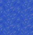Working tools pattern seamless blue vector image