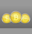 golden money coin vector image