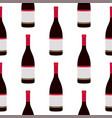 wine bottles seamless pattern vector image