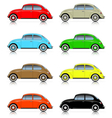 set of colorful compact cars vector image