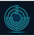 Abstract blue arrow icon vector image