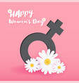 8 march international women day background vector image vector image