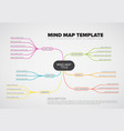 abstract mind map infographic template vector image
