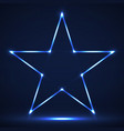 abstract neon star with glowing lines vector image