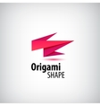 Abstract origami logo 3d company identity