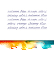 Aquarelle mountains yellow blue note vector image vector image