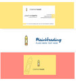 beautiful pencil logo and business card vertical vector image vector image