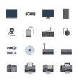 big data icon set computer and devices vector image vector image