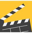 Big open clapper board Movie cinema collection vector image