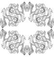 black and white ornamental lotus bohemian vector image vector image