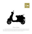black silhouette scooter on white background vector image vector image