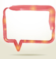 Blank empty white speech bubbles watercolor on vector image vector image