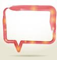 Blank empty white speech bubbles watercolor on vector image