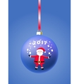 Blue ball on Christmas tree vector image vector image