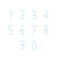 Blue hand write numbers set1 vector image