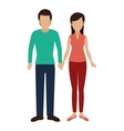 business couple isolated icon vector image vector image